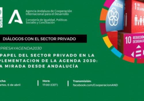 """Agenda la cita: """"El papel del sector privado en la implementación de la Agenda 2030: una mirada desde Andalucía"""""""